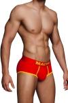Shorty rouge MS089 - Macho : Shorty rouge et jaune ultra sexy signé de la marque Espagnole pour hommes : Macho Lingerie.