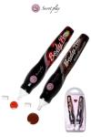 2 stylos comestibles Fraise et Chocolat : Deux stylos saveurs fraise et chocolat fabriqués par la marque espagnole Secret Play pour vos jeux érotiques.