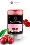 Lubrifiant comestible sucette à la cerise : Lubrifiant 100% comestible au parfum sucette à la cerise signé de la marque Espagnole Secret Play.