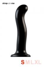 Dildo point P et G taille S - Strap On Me : Gode 100% silicone hommes et femmes, taille S, conçu pour stimuler le point G ou le point P, compatible harnais Strap-On-Me.