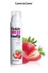 Mousse massage crépitante - fraise : Cosmétique érotique spécial massages sensuels parfum fraise.