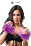 Menottes marabou violet - Secret Play
