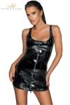 Robe courte zippée en vinyle F232