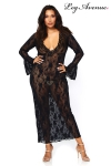 Robe longue stretch Queen Deep-V